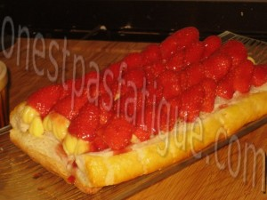 tarte feuilletee fraises