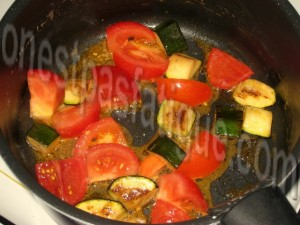 pâtes pimentées crevettes_etape 1