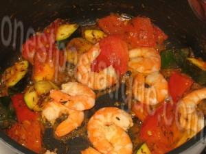 pâtes pimentées crevettes_etape 2