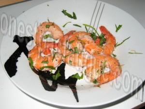 crevettes roulées aux courgettes_etape 1