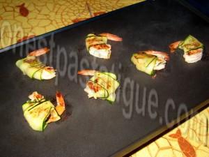 crevettes roulées aux courgettes_etape 6