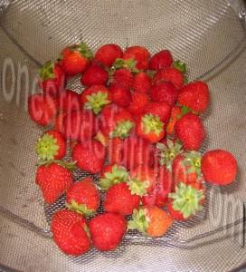 glace à la fraise_etape 1