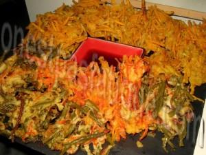 tempura de legumes