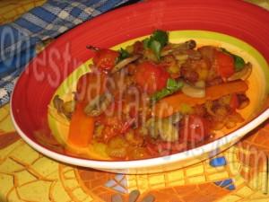 poêlée légumes et chorizo