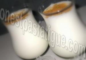 milk shake banane verte