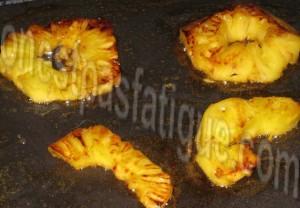 ananas caramelise rhum plancha_etape 2