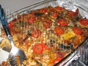 gratin de pâtes sauce tomates grillées