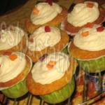 cupcakes poires choco et fruits confits glacage st moret_photo wall