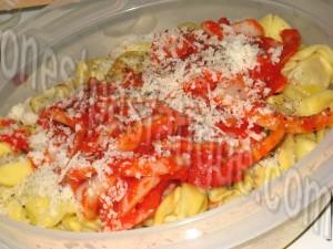 tortellinis parmesan poivrons rouges