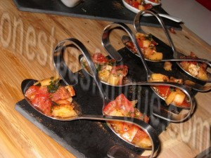 tartare tomate melon cannelle basilic