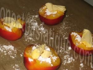 nectarines roties creme amaretti_etape 1
