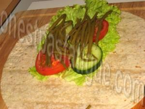wrap poulet légumes_etape 5