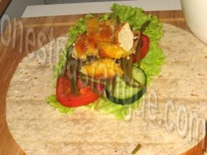 wrap poulet légumes_etape 6