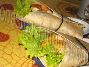 wrap poulet légumes