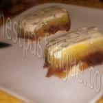 terrine poire ananas et gorgonzola au roquefort et chutney d'oignons_photo wall