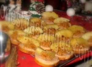 toast foie gras flambé calvados croustillant pain d'épices