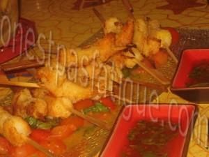 crevettes coco sauce thai