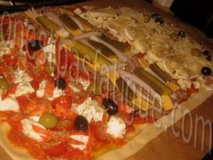 pizza geante quatre saveurs_etape 1
