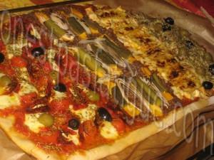 pizza geante quatre saveurs