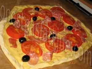 tarte fine tomate-basilic-jambon parme base moutarde_etape 7