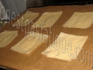 millefeuille mousse chocolat blanc et framboises_etape 1