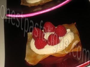 millefeuille mousse chocolat blanc et framboises_etape 8