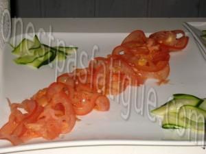 tartare tout tomates courgette et tartine chorizo grille_etape 3