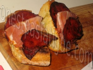 tartare tout tomates courgette et tartine chorizo grille_etape 2