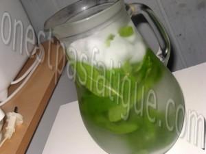 thé glacé à la menthe_etape 2