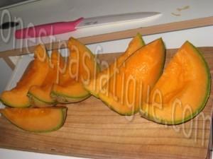 petales melon parme burrata_etape 1