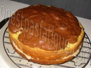 gateau deux mousses glaçage toblerone_etape 3