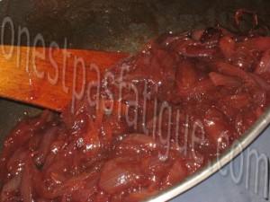 chutney oignons au jus de canneberge