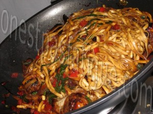 wok poulet miel sésame_etape 10