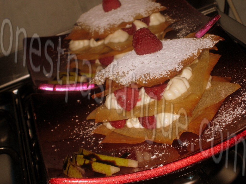 millefeuille mascarpone et framboises_photo wall