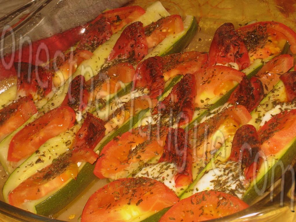 courgettes farcies tomates mozzarella chorizo_photo wall