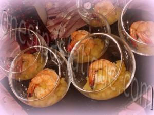 crevettes flambees cognac aux pommes
