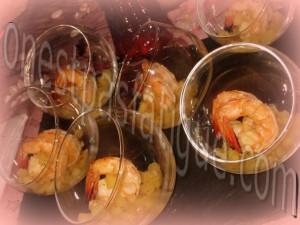 crevettes flambees cognac aux pommes bis