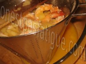 crevettes flambees cognac aux pommes_etape 6