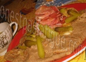 Galette au fromage à raclette