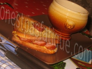 Croque express Montbeliard et moutarde