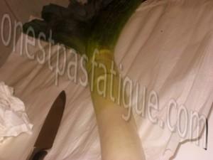 fondue poireaux gratine curcuma st jacques_etape 1