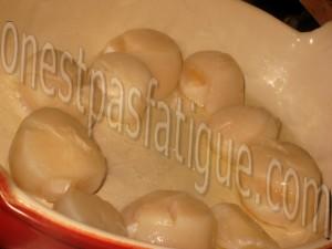 fondue poireaux gratine curcuma st jacques_etape 4