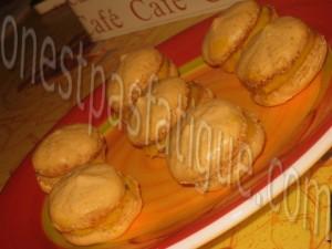 macarons peche safran basilic