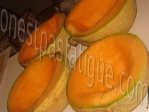 creme glacee vanille coulis melon_etape 2