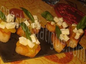 Bruschetta express poivrons feta bis