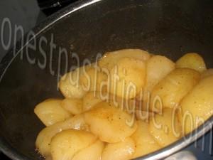 Duo de tapioca à l'Ovomaltine et compote de poires_etape 2