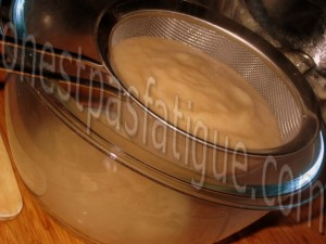 Duo de tapioca à l'Ovomaltine et compote de poires_etape 5