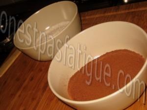 Duo de tapioca à l'Ovomaltine et compote de poires_etape 7