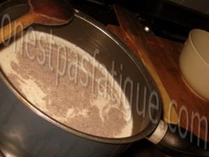 Duo de tapioca à l'Ovomaltine et compote de poires_etape 8