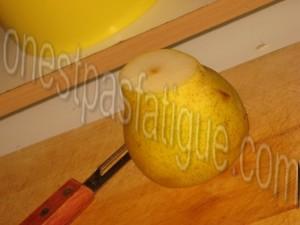 bruschetta deux pommes et morbier_etape 1